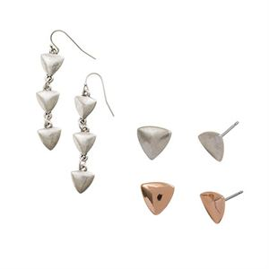 Picture of Rose Gold Arrow Earring Set
