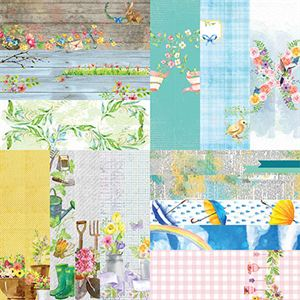 """Picture of Springtime by Lauren Hinds 2"""" Border Strips - Set 12"""